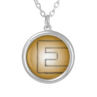 E initial letter jewelry