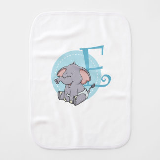 E is for Elephant Burp Cloth