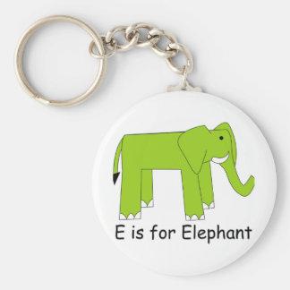 E is for Elephant Keychain