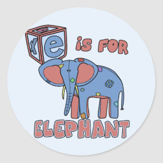 E is for Elephant Stickers