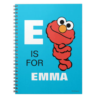 E is for Elmo | Add Your Name Notebooks
