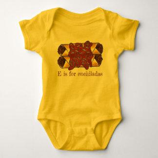 E is for Enchiladas Cheese Enchilada Food Initial Baby Bodysuit