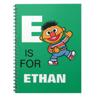 E is for Ernie | Add Your Name Note Books