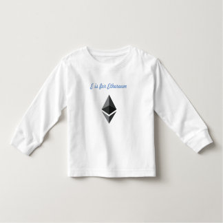 E is for Ethereum Toddler T-shirt