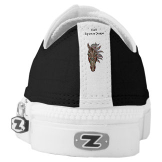 E & K Signature Designs Horse Black Sneakers