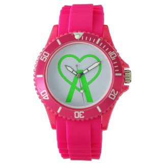 E&L Pink A~Heart Watch