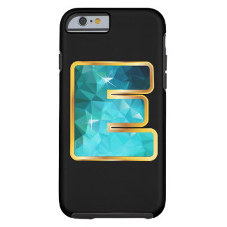 """E Low-Poly Teal Water in """"Gold"""" Channel Tough iPhone 6 Case"""