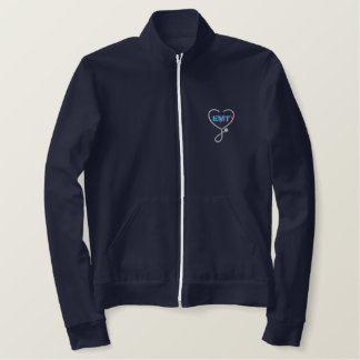 E M T Logo Embroidered Jacket