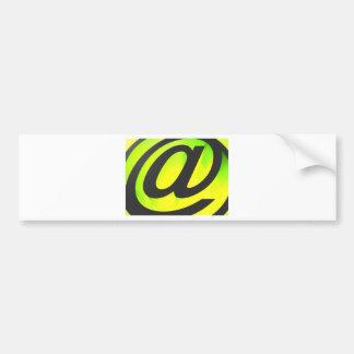 E-mail icon bumper sticker