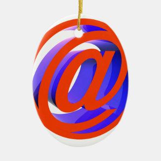 E-mail icon ceramic ornament