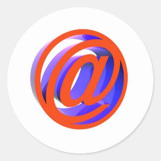 E-mail icon classic round sticker