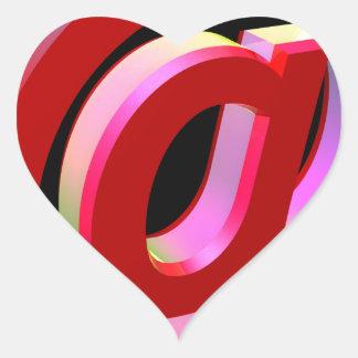 E-mail icon heart sticker