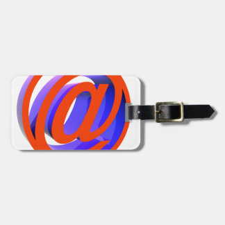 E-mail icon luggage tag