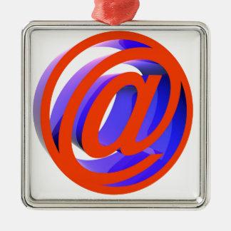 E-mail icon metal ornament