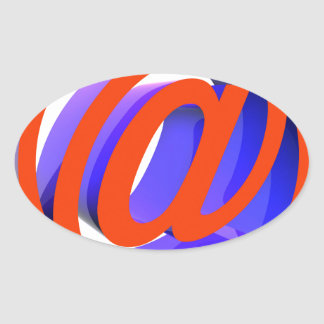 E-mail icon oval sticker