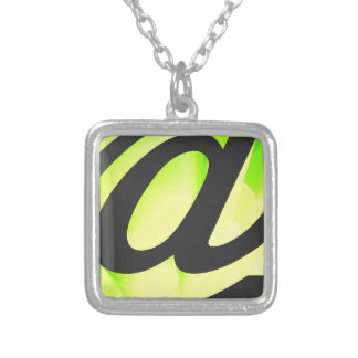 E-mail icon silver plated necklace