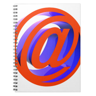 E-mail icon spiral notebook