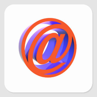 E-mail icon square sticker