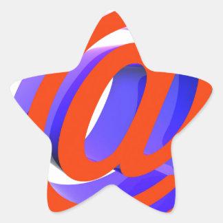 E-mail icon star sticker