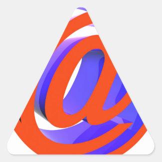 E-mail icon triangle sticker