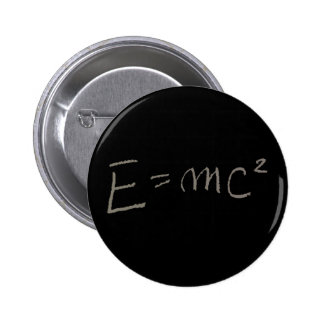 E=MC2 2 INCH ROUND BUTTON