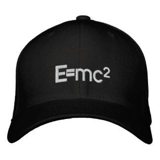 E=mc2   Albert Einstein speed of light squared Embroidered Hat