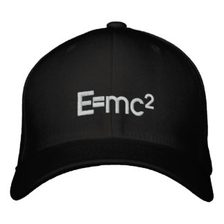 E=mc2   Albert Einstein speed of light squared Embroidered Hats