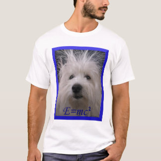 E=mc2 dog  t-shirt