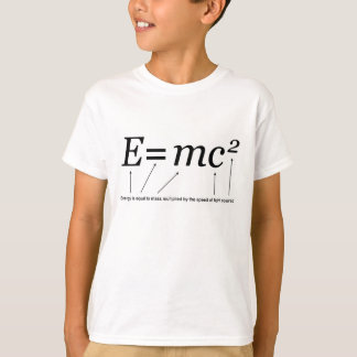 E=MC2 Einstein's Theory of Relativity T-Shirt