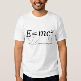 E=MC2 Einstein's Theory of Relativity Tee Shirt