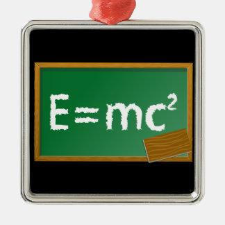 E=mc2 Metal Ornament