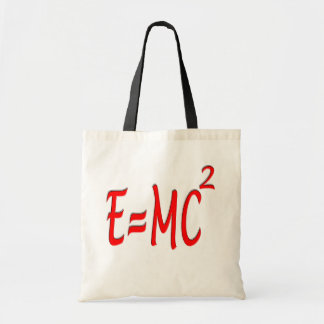 E = MC2 (red) Tote Bag