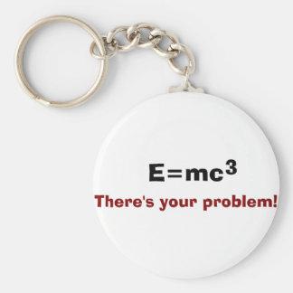 E=mc3 Keychain