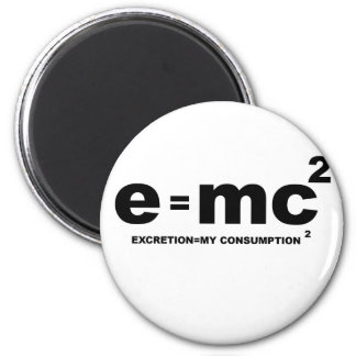 e mc squared excretion my comsumption x 2 magnets