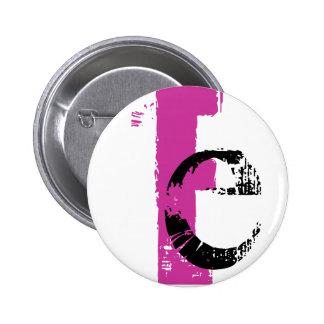 E monogram Button