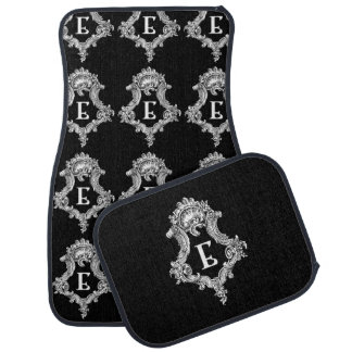 E Monogram Inital Set of Car Mats Car Floor Carpet