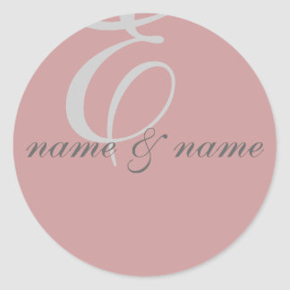 """E"" monogram label - personalize"