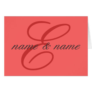 """""""E"""" monogram note card - personalize first names"""