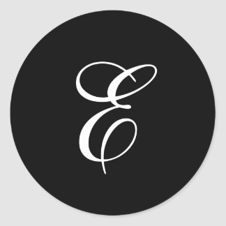 E Monogram Stickers