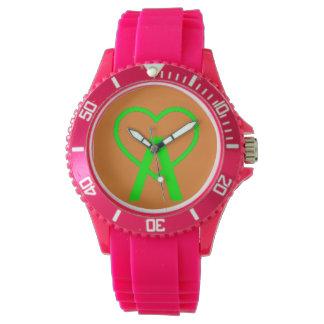 E&O Pink A~Heart Watch