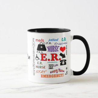 E.R. Nurse-Colorful Word Cloud Mug