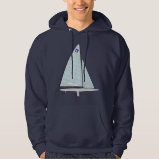E Scow One Design Racing Sailboat Hoodie
