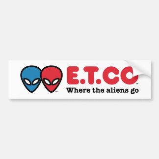 E.T.CO Where the aliens go Bumper Sticker