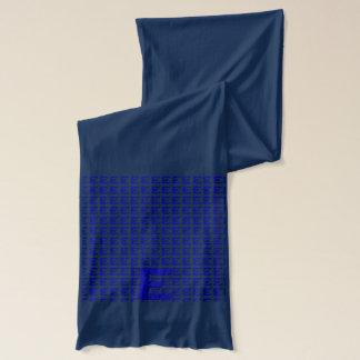 E - The Falck Alphabet (Blue) Scarf
