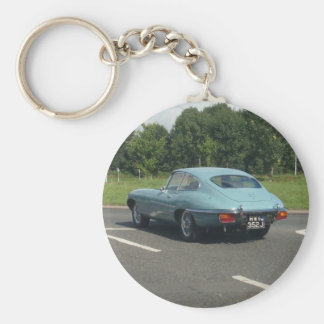 E-Type Jag Coupe Basic Round Button Keychain