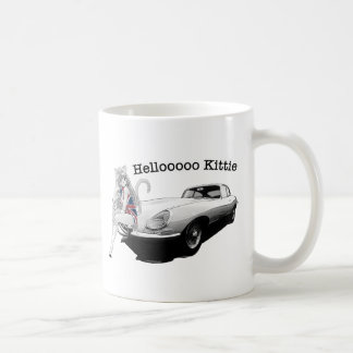 E-type Jag with hot cat girl Coffee Mug
