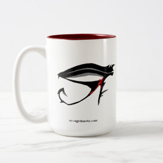 E:V Nighthawks Squadron Drinker. Two-Tone Coffee Mug