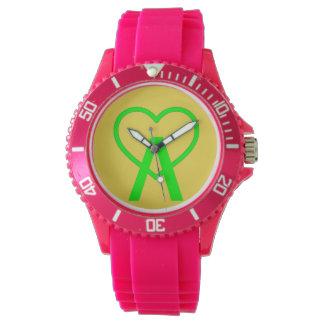 E&Y Pink A~Heart Watch