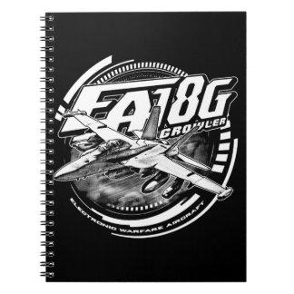 EA-18G Growler Spiral Photo Notebook