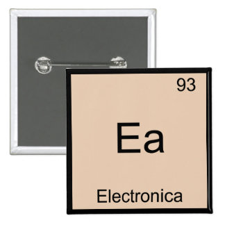 Ea - Electronica Funny Chemistry Element Symbol T 2 Inch Square Button